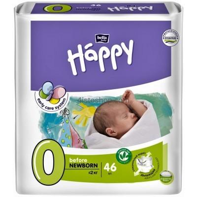Купить Подгузники детские Bella Baby Happy Before Newborn 0-2 кг 46 шт