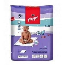 Одноразовые пелёнки Bella Happy 60х90 см 5 шт в упаковке