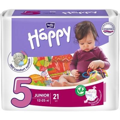 купить подгузники Bella Happy 5 Junior 12-25 кг