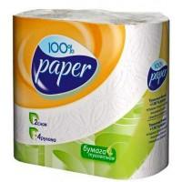 Туалетная бумага Paper Classic 4 рулона двухслойная