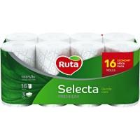 Туалетная бумага Ruta Selecta 3 слоя 16 рулонов Белая