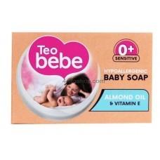 Teo Bebe детское крем-мыло с миндальным маслом 75 г