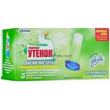 Диски чистоты для унитаза Туалетный Утенок Цитрусовый бриз сменный блок 6шт