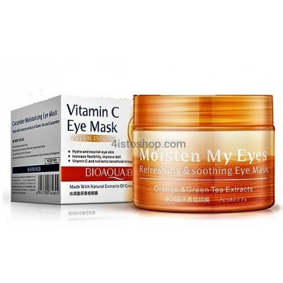 Патчи тканевые для кожи вокруг глаз BIOAQUA Vitamin C eye mask