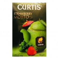 Чай зеленый Curtis Клубничный мохито листовой 90г
