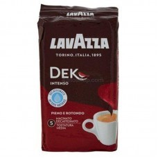 Кофе молотый Lavazza Decaffinato Intenso брикет 250г (без кофеина)