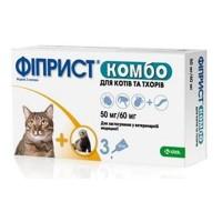 KRKA Фиприст Комбо для кошек и хорьков 1 пипетка