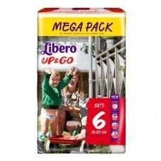 Подгузники-трусики Libero Up & Go 6 от 13 до 20 кг 58 шт