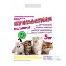 Наполнитель для кошачьего туалета Пушистики без запаха 5 кг крупный