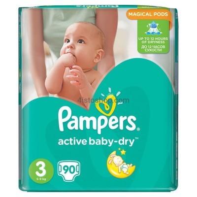 Памперс актив беби подгузники 3 90 шт