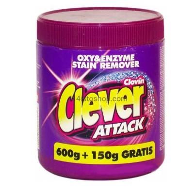 Пятновыводитель Clever Attack 750 г