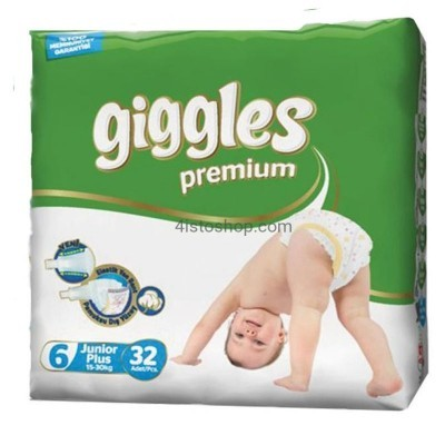Подгузники Giggles 6 Premium  Junior Plus 15-30 кг 32 шт