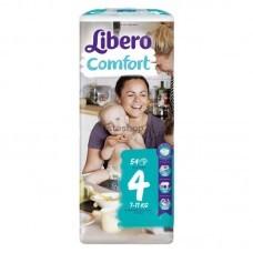 Подгузники Libero Comfort 4 Maxi от 7 до 11 кг 54 шт