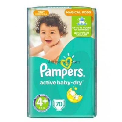 Подгузники Pampers Active Baby Dry 4 plus 70 шт