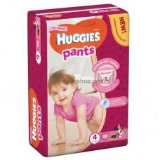 Подгузники-трусики Huggies Pants 4 для девочек от 9 до 14 кг 36 шт
