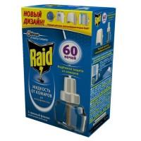 Raid жидкость от комаров для электрофумигатора 60 ночей