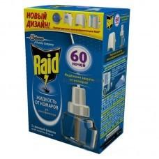 Raid жидкость от комаров  для электрофумигаторов 60 ночей