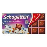 Шоколад Schogetten с йогуртом, черникой и мюсли 100г