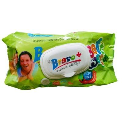 Влажные салфетки для всей семьи Bravo+ с клапаном