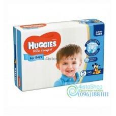 Подгузники Huggies 5 Ultra Comfort для мальчиков 12-22 кг 42 шт