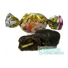 Конфеты опт груша с грецким орехом в шоколаде 1кг