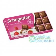 Шоколад Schogetten с клубничным йогуртом 100г