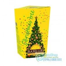 Чай черный Basilur Рождественская елка Желтая 85г картон