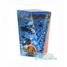 Чай черный Basilur Зимняя фантазия Зимние снежинки картон 85г