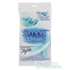 Одноразовые бритвы Gillette SIMPLY VENUS 2 женская 4 шт