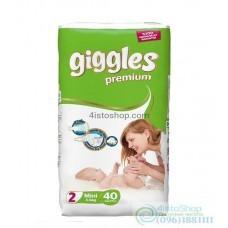 Подгузники Giggles 2 Premium Jumbo Packs Mini от 3 до 6 кг 40 шт