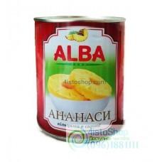 Ананас кольцами Alba Food в сиропе 580мл