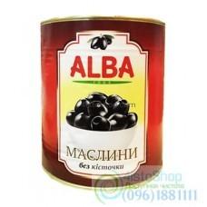 Черные оливки без косточки Alba Food 340г