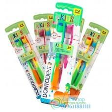 Зубная щетка Dontodent Kids от 3 до 6 лет с присоской 2 шт