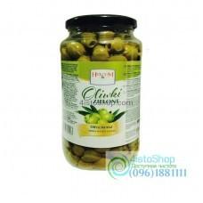 Зелёные оливки без косточки Helcom 800 г