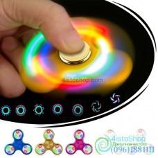 Спиннер металлический LED running picture бегущий рисунок 1 шт