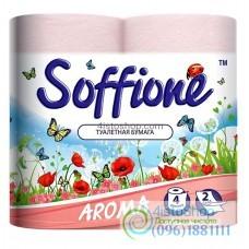 Туалетная бумага Soffione Aroma Flower Garden розовая 4 рулона