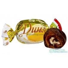 Опт шоколадные конфеты с дыней и грецким орехом 1000г