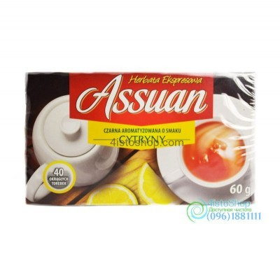 Чай чёрный Assuan лимон 40 пак.