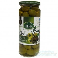 Оливки зелёные без косточки IBERIA 340 г