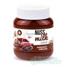 Шоколадная паста Nuss milk молочный шоколад и какао 400 г