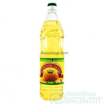 Подсолнечное масло Королівський смак рафинированное 1л