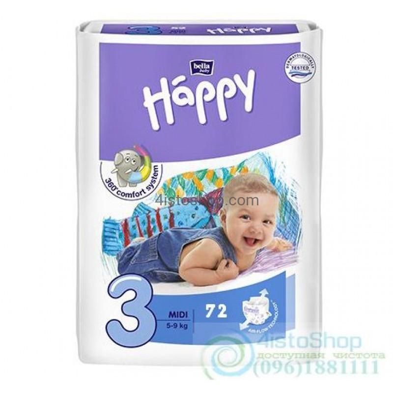 Подгузники Bella Baby happy fun 3 72 шт 37b81322a0d