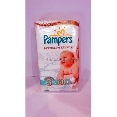 Pampers Premium Care 3 4-9 кг 60шт