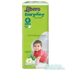 Подгузники Libero Every day 4 Maxi от 7 до 18 кг 42 шт