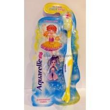 Детская зубная щетка Aquarelle Kids + брелок желтая