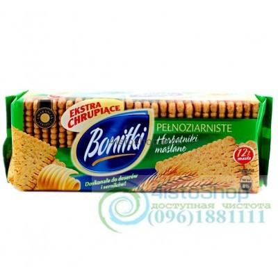 Печенье хрустящее Bonitki pelnoziarniste из цельного зерна 250 г