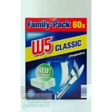 Таблетки для посудомоечных машин W5 60шт