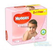 Влажные салфетки 2+1 Huggies Soft Skin Triplo 168 шт