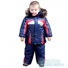 Зимний комбинезон и куртка в спортивном стиле рост от 92 до 110 см