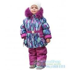 Зимний комбинезон на девочку рост от 92 до 110 см